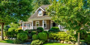 Portland Oregon House with Trees