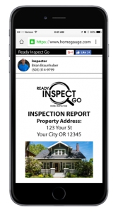 Digital Home Inspection Report on Phone